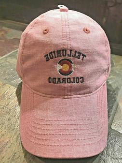 Telluride Colorado Pink oxford cloth Legacy Hat Cap golf fis