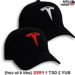 Tesla Logo Cap Emblem Motors T Embroidered Adjustable Hat Mo