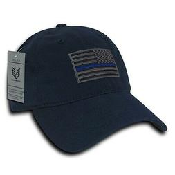 Thin Blue Line Blue US American Flag Patch Relaxed Graphic B