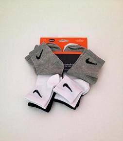 NIKE TODDLER BOYS 6Pair SOCKS Size 5-6 US Shoe Size 9C- 13C