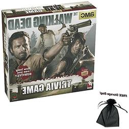 The Walking Dead Trivia Game with Free Storage Bag