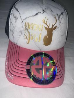 Simply southern TROPHY WIFE  trucker hat baseball cap Brand