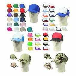 Trucker Hat Baseball Cap Mesh Caps Blank Plain Hats
