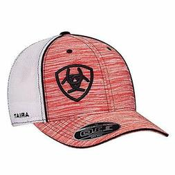 Twister Western Mens Hat Baseball Cap Mesh Patch Red Heather