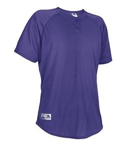 Russell Athletic Men's Two Button Placket Baseball Jersey Pu