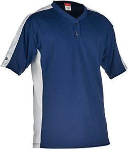 Rawlings Youth Two Button YJSB Jersey, Navy, Youth Small