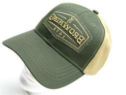 NEW BROWNING TWO TONE ATLUS HAT BALL CAP BUCKMARK LOGO MALLA