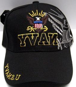 U.S.NAVY VETERAN Cap/Hat Black w/ Shadow Military FREE Shipp