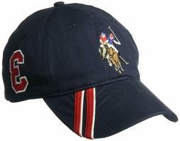 U.S. Polo Assn. Men's Horse Baseball Cap, Diagonal Stripe Ap