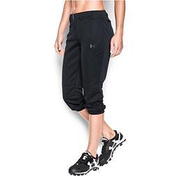 UA Womens Strike Zone Softball Pant, Black/Violet, size Smal
