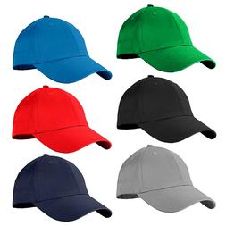 unisex baseball cap plain blank cotton adjustable