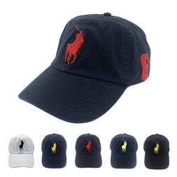 Unisex POLO RL Big Pony Baseball Cap Golf Soccer Hat With Ho