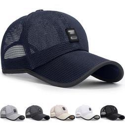 Unisex Mesh Cotton Baseball Cap Summer Outdoor Hat Adjustabl