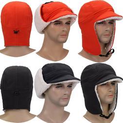 Unisex Winter Warmer Earflap Trapper Hat Hunting Ski Hat Bas
