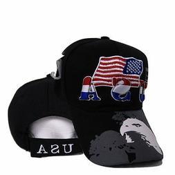 USA American Bald Eagle Shadow Flag Embroidered Baseball Cap