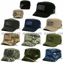 USA American Flag hat Tactical Cadet cap Flag Detachable Pat