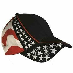 USA Flag American Flag Embroidered Hat Cap Adjustable Cap Ba