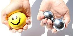 USA  Heavier Iron Ball +  Yellow Smiley Happy Face Squeeze B