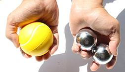 USA  Heavier Iron Ball with Chime +  Tennis Squeeze Ball - S