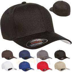 V-Flexfit Cotton Twill Baseball Cap Fitted Flex Fit Ballcap
