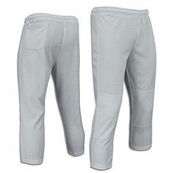 Champro Value Pull-Up Boys Baseball Pant, Grey, Size XX-Smal