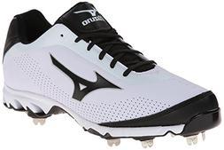Mizuno Men's Vapor Elite 7 Low Baseball Cleat,White/Black,8