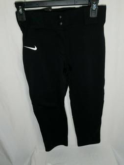 Nike Vapor Pro Baseball Pants XS-XL Youth Boys Black Full Le