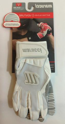 Marucci Venture Batting Gloves Youth Small–– New – Whi