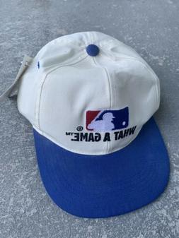 Vintage 90s Major League Baseball What A Game Snapback Hat M