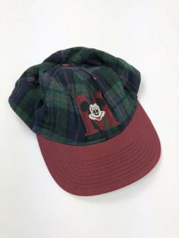 5c3147c093a Vintage Mickey Mouse Disney Unlimited Hat Baseball Cap Plaid