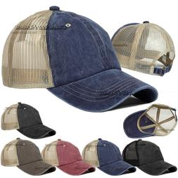 washed cotton trucker hat mesh cap polo