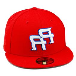 """New Era WBC """"Puerto Rico"""" ALL RED/WHITE Fitted Hat Cap World"""
