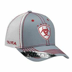 Ariat Western Mens Hat Baseball Cap Mesh Center Shield Logo