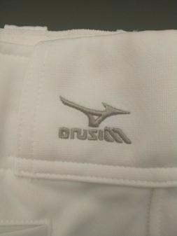 Mizuno White w/black stripe Men's baseball pants  s m l