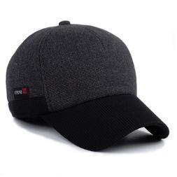 Winter Cap Hats For Men Baseball Soft Warm Cotton Head Wear