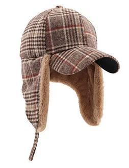 Gisdanchz Winter Cap with Visor Winter Earmuffs Cap Outdoor