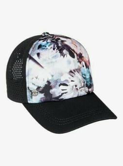 "Women's ROXY beach surf trucker cap hat ""Waves Machines"" NWO"