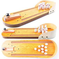 Wooden Mini Bowling Game Set with Lane: Best Interactive Des