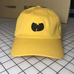 Wu-Tang Dad Hat Unstructured Baseball Cap Yellow Brand New -