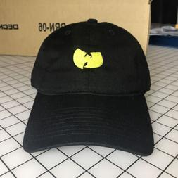 Wu-Tang Dad Hat Unstructured Baseball Cap Black Brand New -