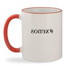 #xenos - 11oz Hashtag Colored Rim & Handle Sturdy Ceramic Co