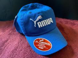 PUMA Youth Adjustable BASEBALL CAP HAT Snapback Blue/White