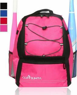 Athletico Youth Baseball Bat Bag - Backpack for Baseball, T-