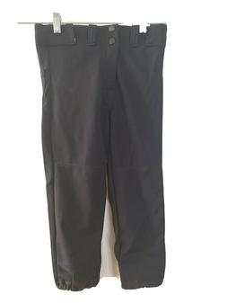 Rawlings Youth Baseball Pants Elastic Waist with Snaps  Blac