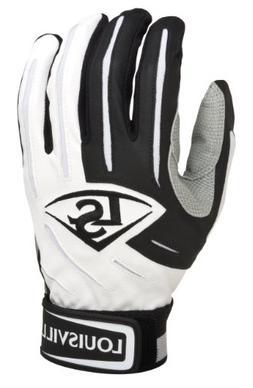 Louisville Slugger Youth BG Series 5 Batting Glove, White/Bl