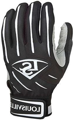 Louisville Slugger Youth BG Series 5 Batting Glove, Black, M