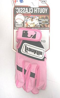 Franklin Youth Classic Batting Gloves - Pink - Sz Youth S