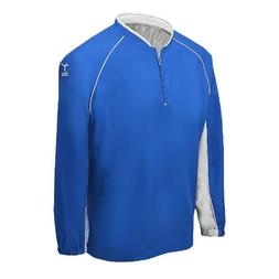 Mizuno Youth Prestige G4 Long Sleeve Batting Jersey, Royal,