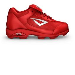 3N2 Youth Rookie Shoes, Red/Silver, Size 3