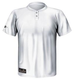 Easton Youth Skinz 2 Button Placket Jersey, White, Medium